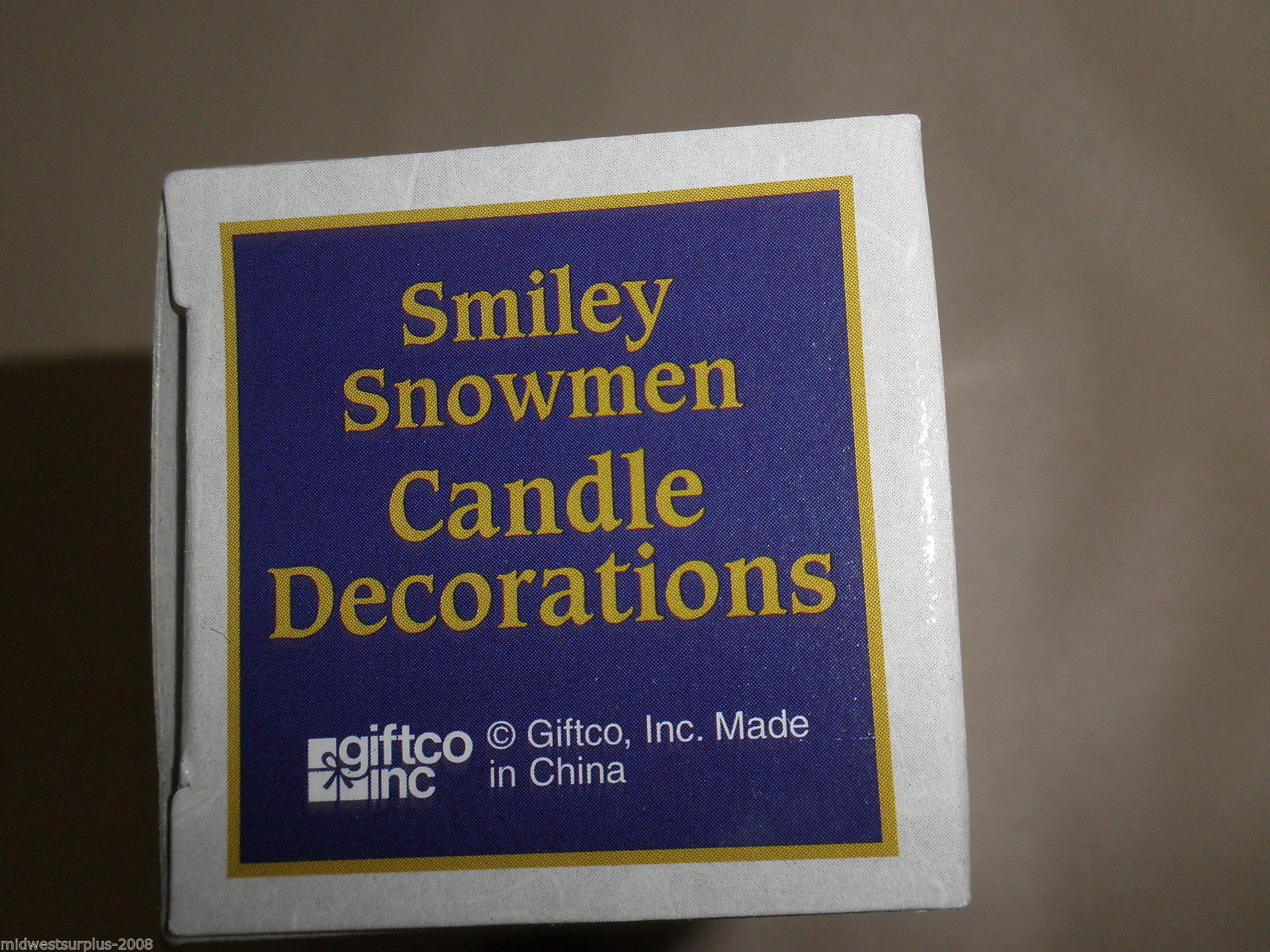 Giftco Inc Smiley Snowmen Candle Decorations #047256052247
