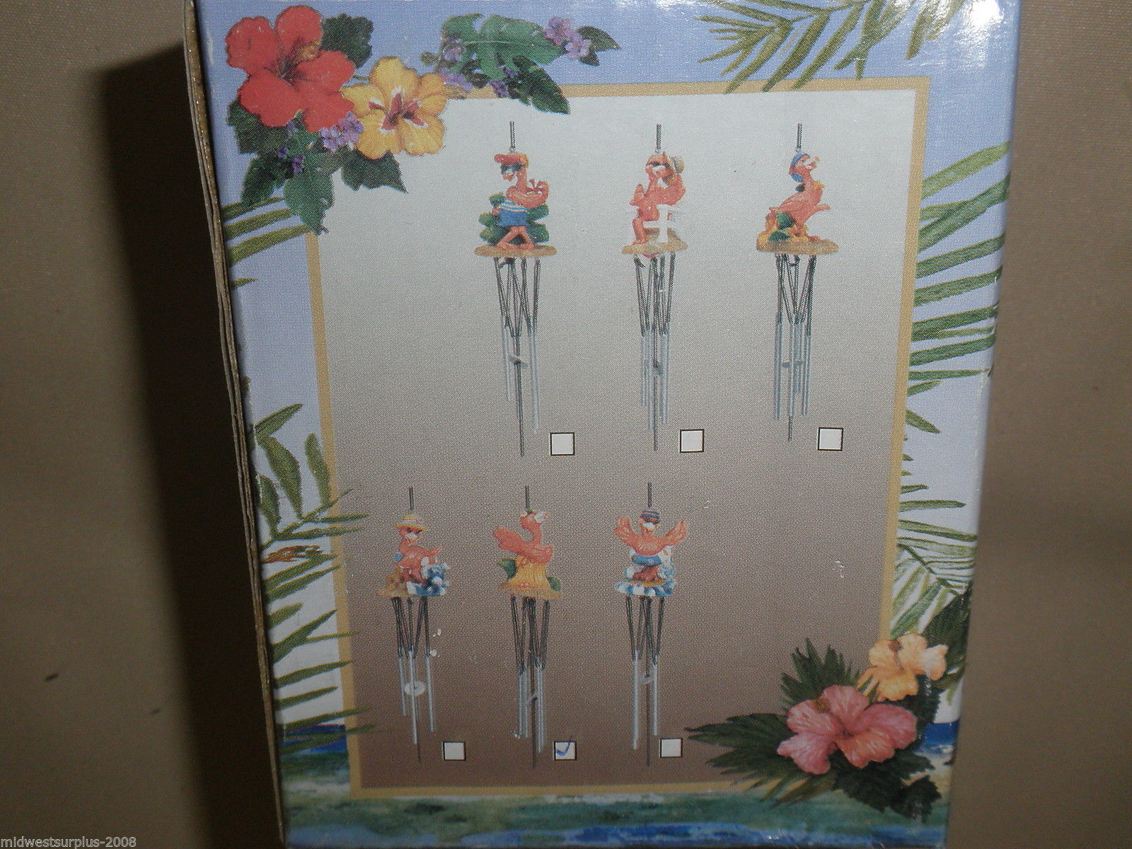 MayRich Company Flamigo In Hula Skirt Wind Chime #5341-5