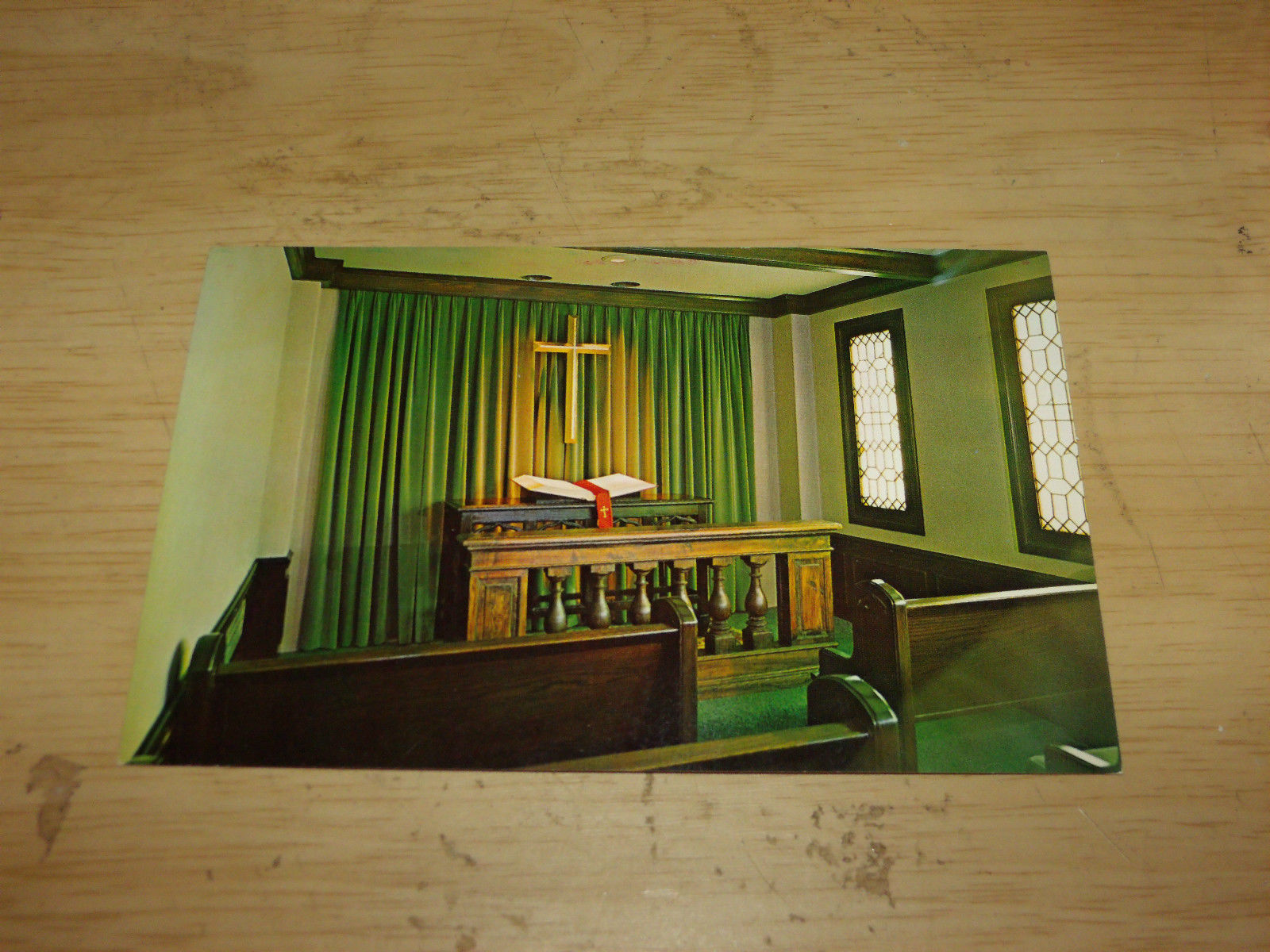 MEDITATION CHAPEL BAKER UNIVERSITY LIBRARY VINTAGE UNUSED POSTCARD