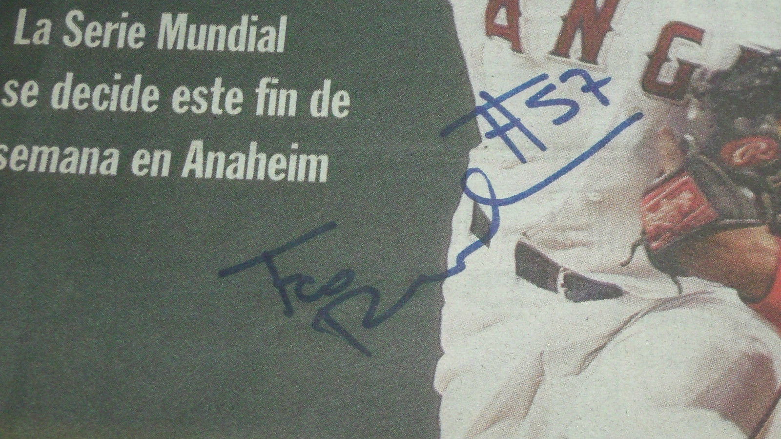 FRANCISCO RODRIGUEZ HAND SIGNED 2002 EXCELSIOR COVER WORLD SERIES