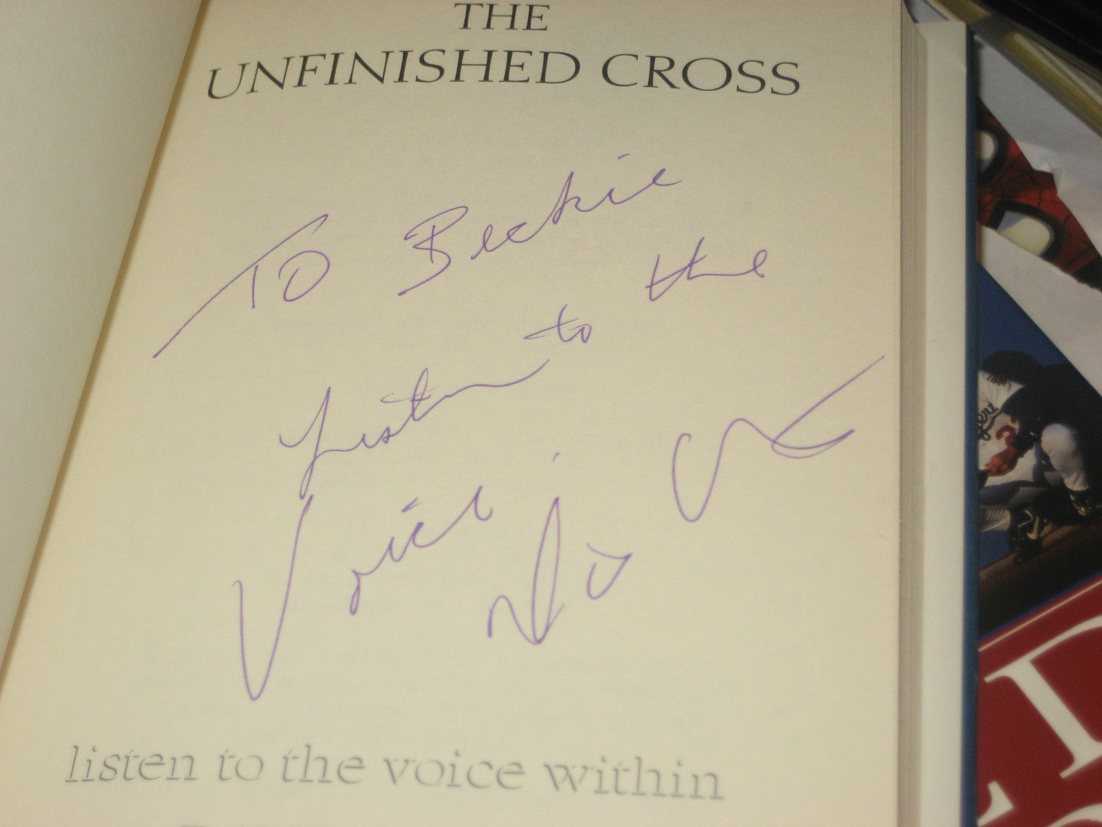 The Unfinished Cross: Listen to the Voice Within SIGNED by Dave Austin