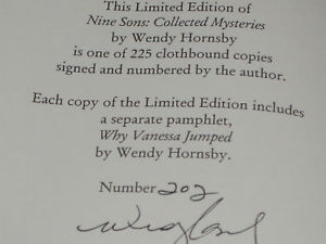 Nine Sons SIGNED LE BY WENDY HORNSBY 1`ST/1ST