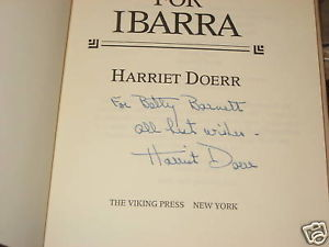Stones for Ibarra SIGNED by Harriet Doerr 1984