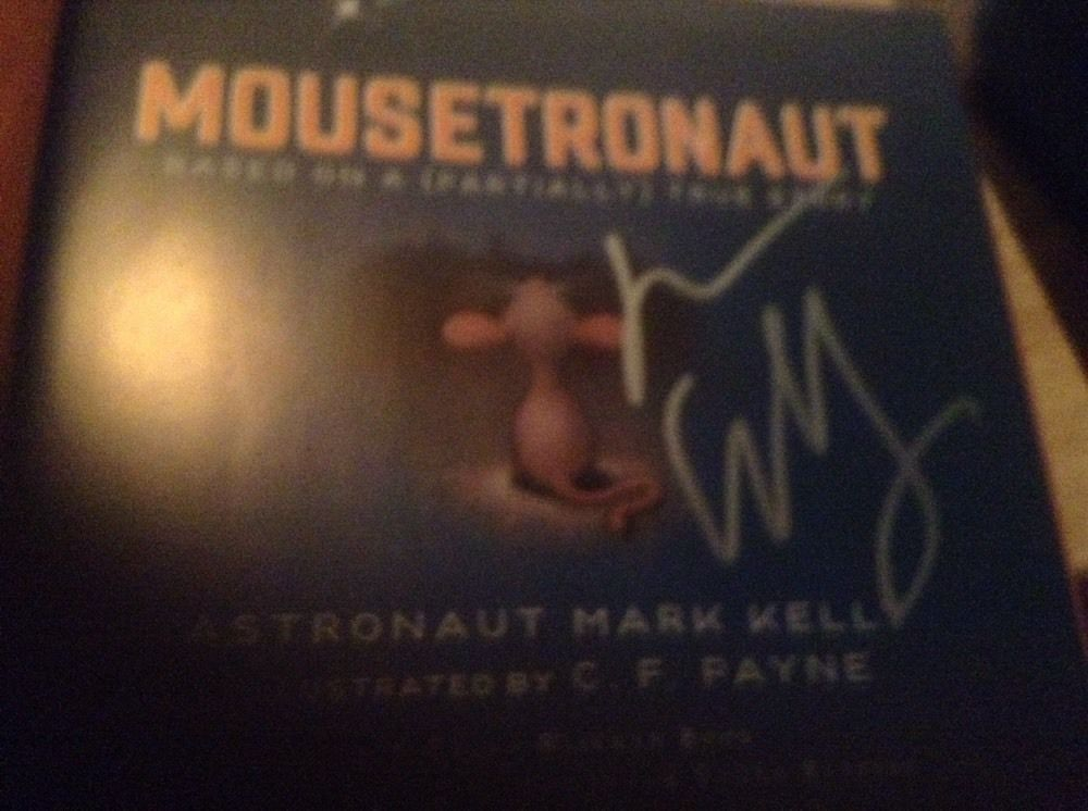 MOUSETRONAUT SIGNED BY MARK KELLY 1ST/6TH