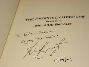 THE PROPHECY KEEPERS SIGNED BY MELAINE BRYANT 1ST