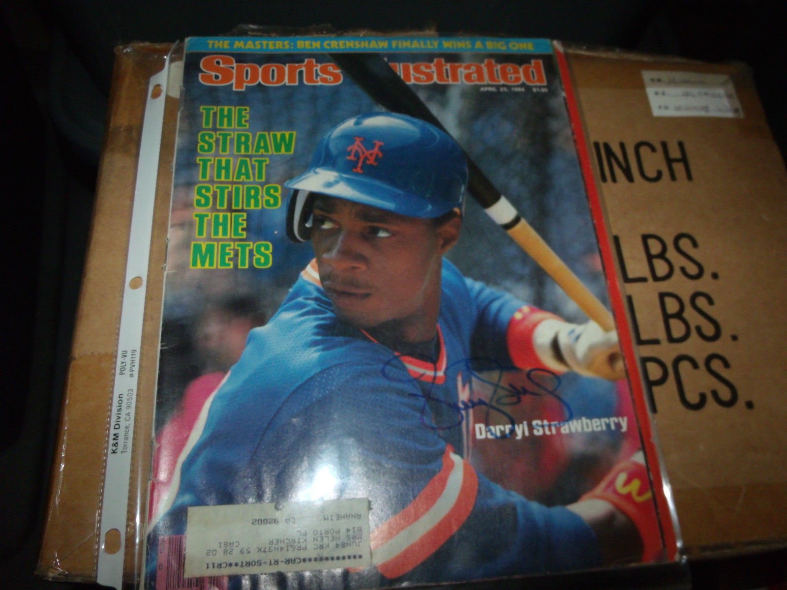 DARRYL STRAWBERRY HAND SIGNED 1984 SPORTS ILLUSTRATED METS BASEBALL