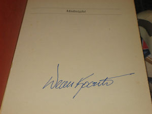 Midnight SIGNED by Dean Koontz 1ST/1ST 1989 Hardcover