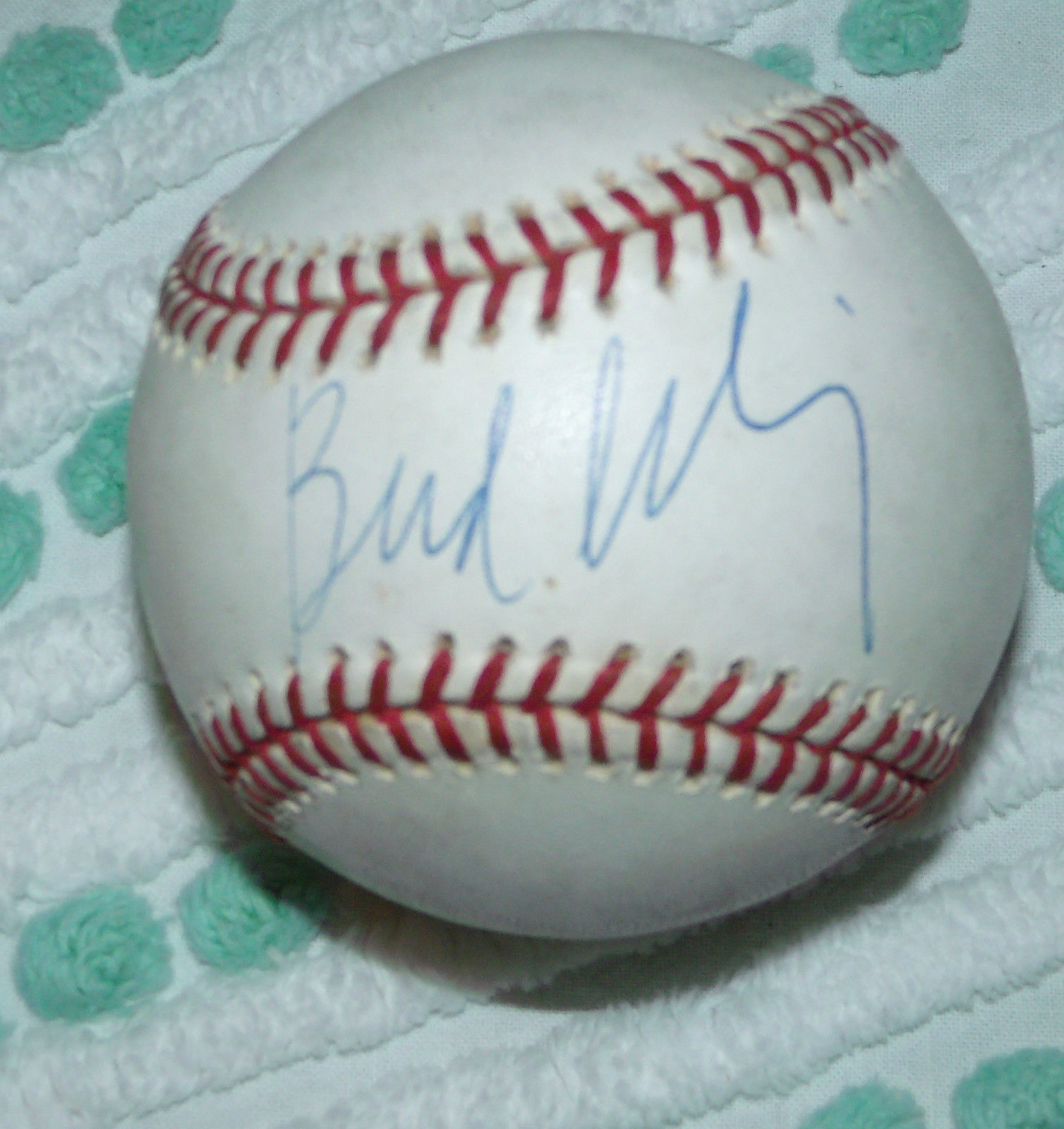 BUD SELIG MLB BASEBALL COMMISSIONER SIGNED  MAJOR LEAGUE BASEBALL