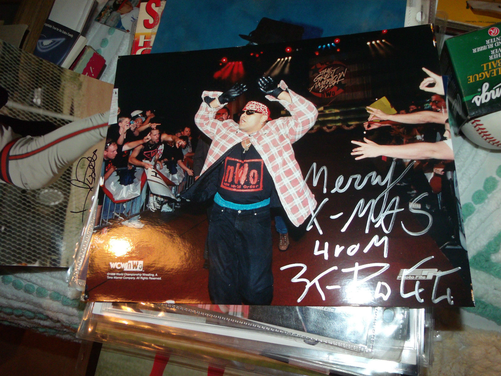 KONAN HAND SIGNED 8X10 WCW NWO WRESTLING PHOTO
