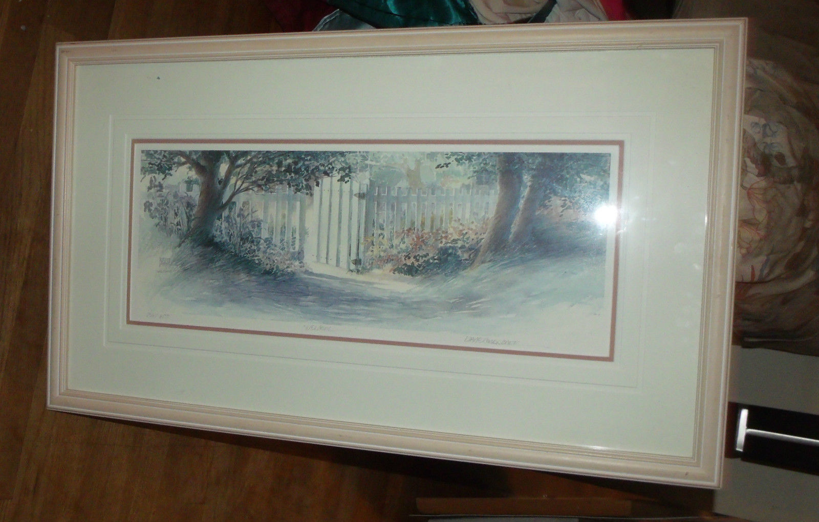 WELCOME 20X34 FRAMED LIMITED EDITION SIGNED BY DIANE CLAPP BARTZ W/ COA