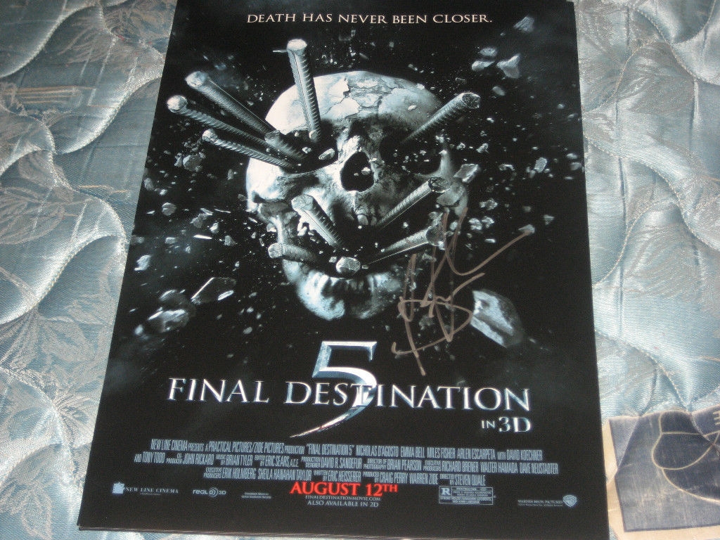 FINAL DESTINATION 5 11X17 MOVIE POSTER SIGNED BY COMPOSER BRIAN TYLER