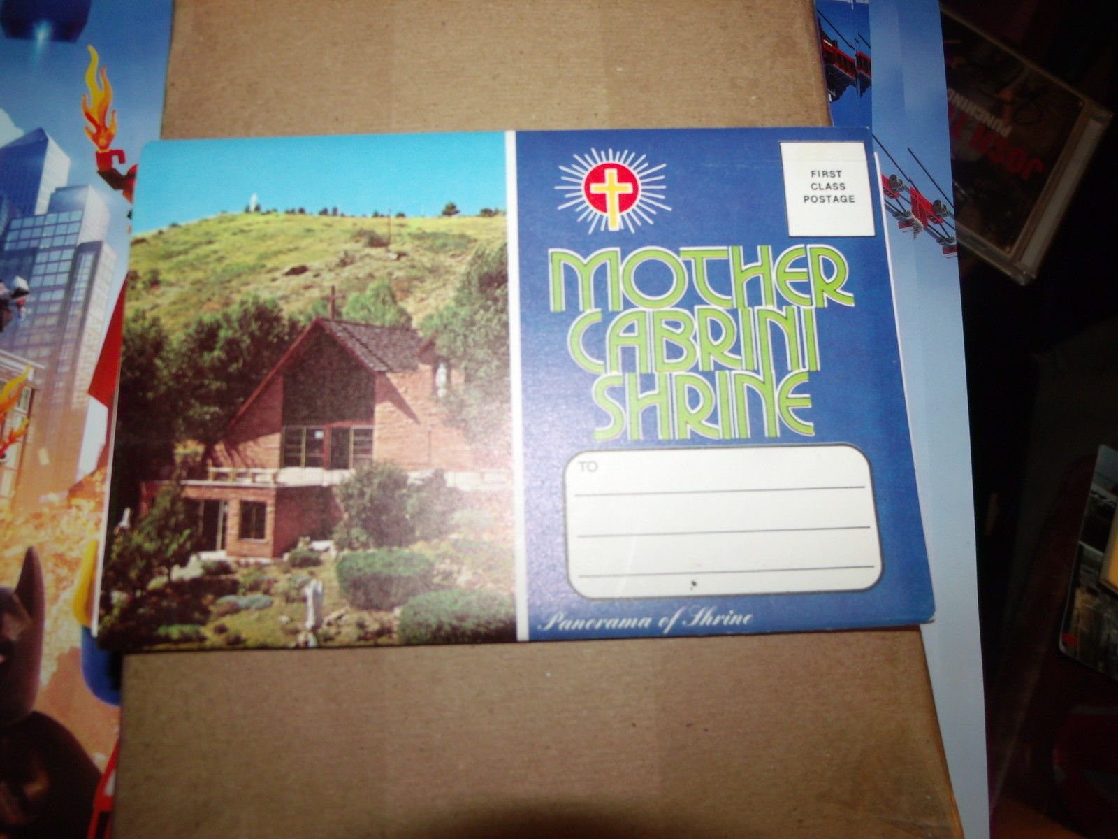 MOTHER CABRINI SHRINE VINTAGE UNUSED FOLDOUT POSTCARD BOOKLET