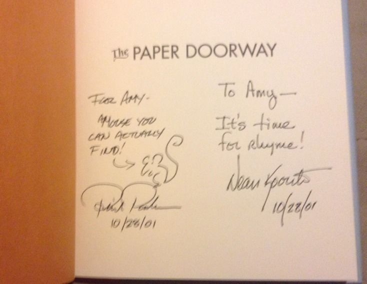 The Paper Doorway : Funny Verse SIGNED by Dean Koontz & PHIL PARKS 1Sst/1ST