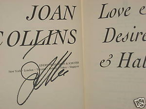 Love & Desire & Hate SIGNED by Joan Collins (1990) 1ST/1ST