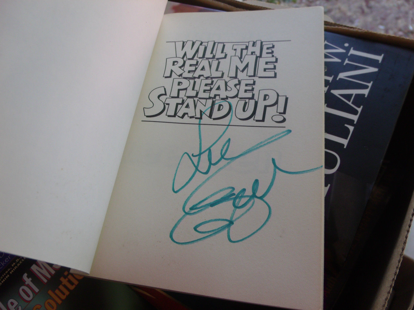 WILL THE REAL ME PLEASE STAND UP SIGNED BY LEE EZELL