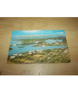 VIEW FROM GIBBS HILL LIGHTHOUSE BERMUDA VINTAGE UNUSED POSTCARD - $6.80