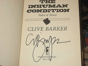 The Inhuman Condition SIGNED by Clive Barker 1ST/1ST