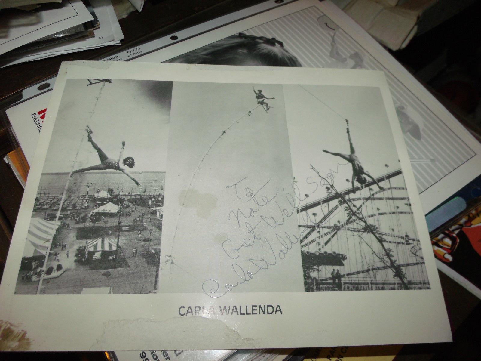 Carla Wallenda The Flying Wallendas HAND SIGNED 8X10 PHOTO
