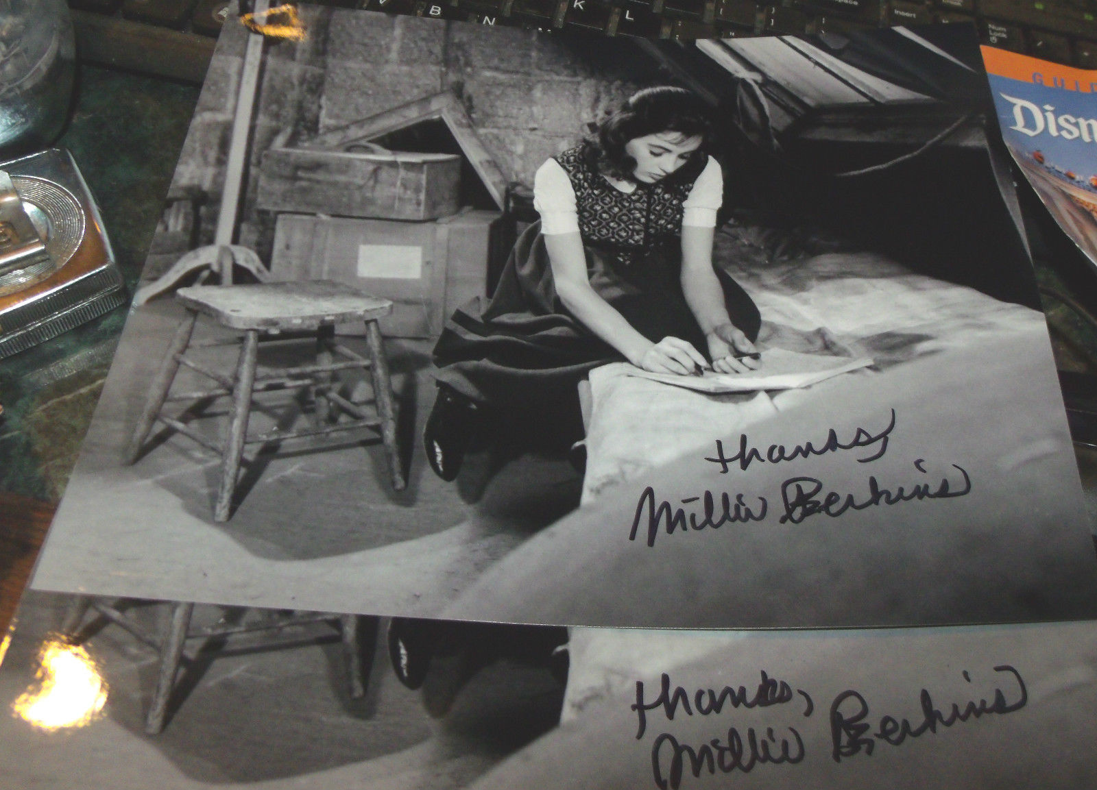 MILLIE PERKINS HAND SIGNED 8X10 THE DIARY OF ANNE FRANK PHOTO