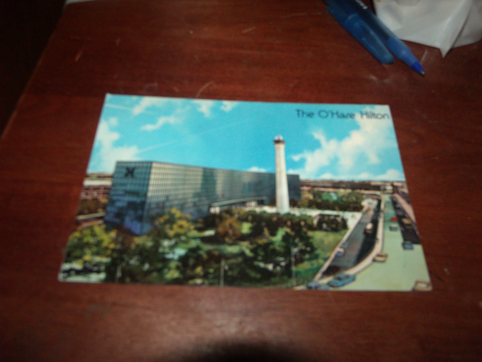 THE O'HARE HILTON VINTAGE UNUSED POSTCARD