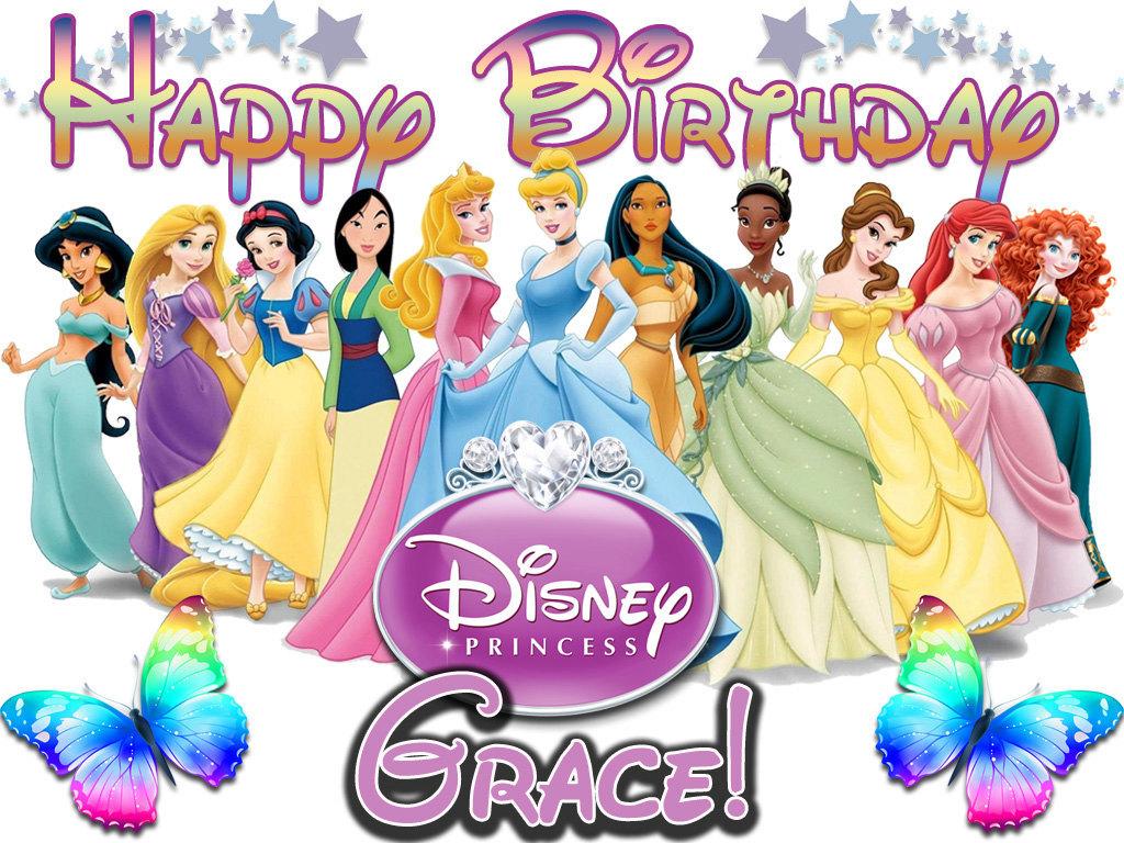 Personalized Birthday T-shirt *NEW* Disney Princess Birthday/Party Gifts