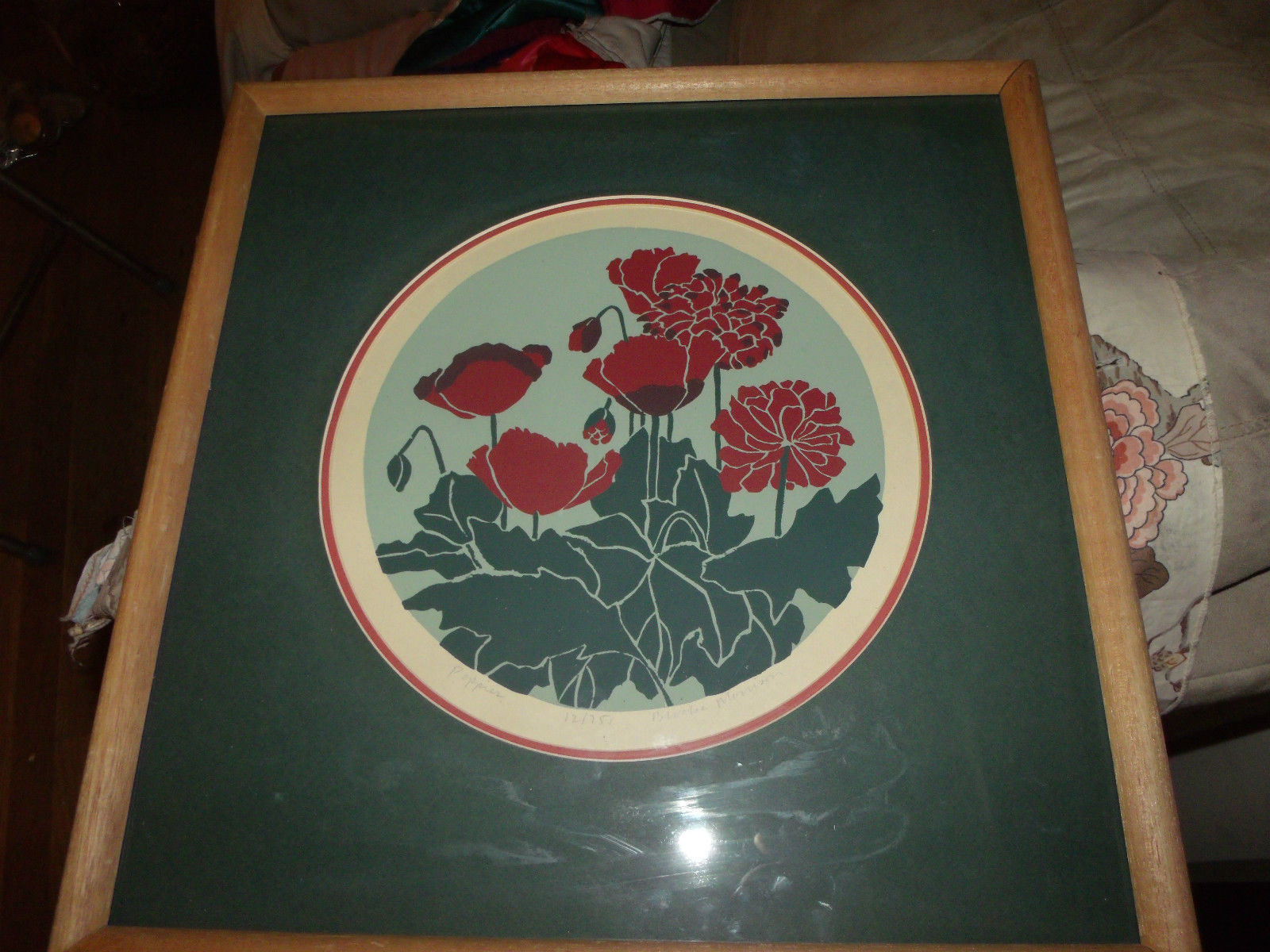 POPPIES SIGNED #'D LE FRAMED 18 1/2 X 18 1/2 LITHOGRAPH BROOKE MORRISON