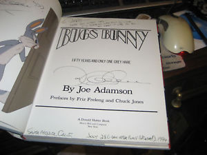 Bugs Bunny 50 YEARS SIGNED by Joe Adamson 1ST/1ST