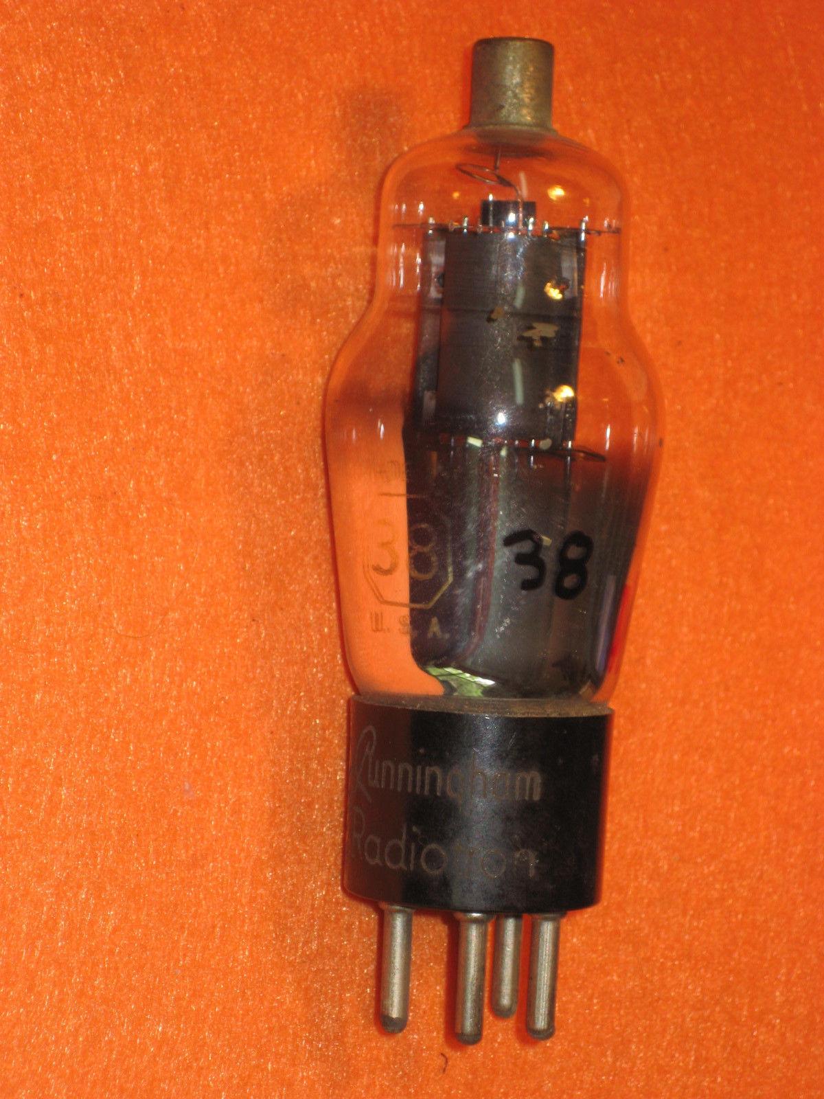 Vintage Radio Vacuum Tube (one): Type 38 - Tested Good