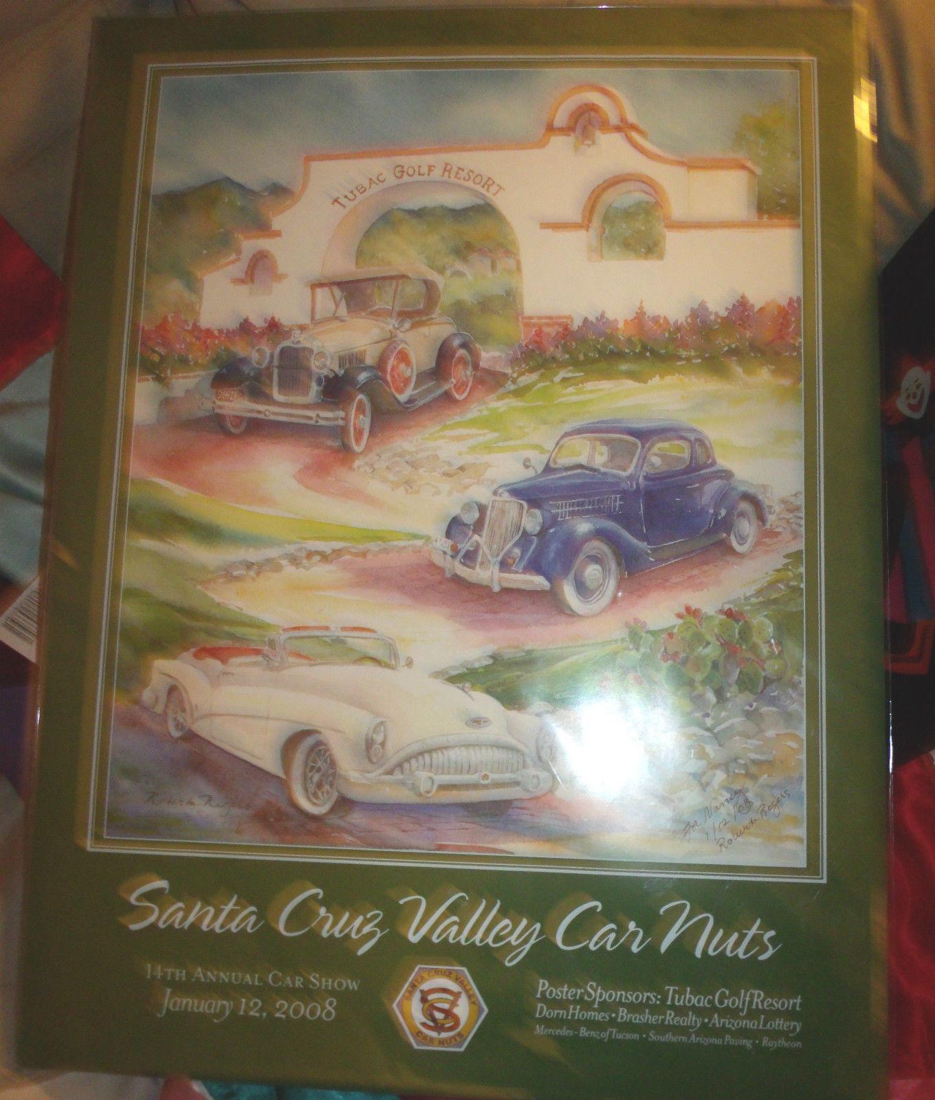 SANTA CRUZ VALLEY CAR NUTS 14TH ANNUAL LITHOGRAPH SIGNED #'D ROBERTA ROGERS