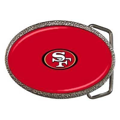 San Francisco 49ers Zinc Belt Buckle - NFL Football