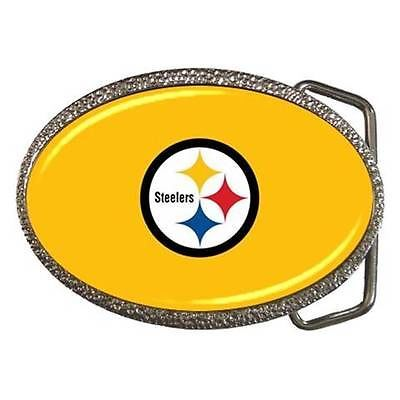 Pittsburgh Steelers Chrome Finished Belt Buckle - NFL Football