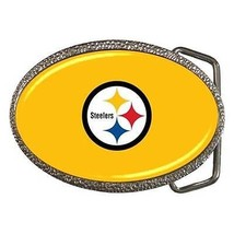 Pittsburgh Steelers Chrome Finished Belt Buckle - NFL Football - $9.64