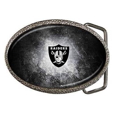 Oakland Raiders Zinc Belt Buckle - NFL Football