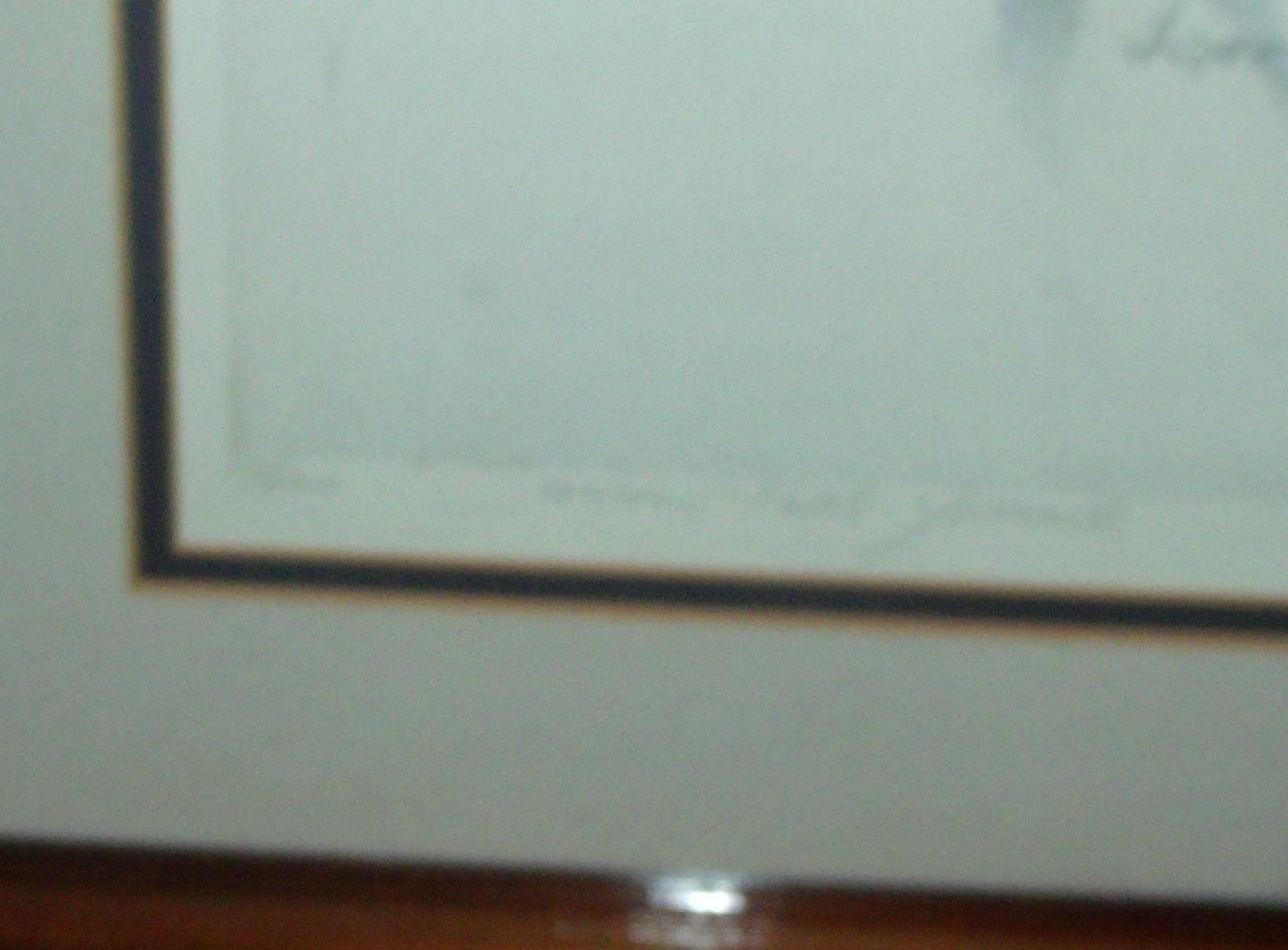 JANE GYER SENTINEL FALLS YOSEMITE FRAMED LIMITED EDITION SIGNED LITHOGRAPH