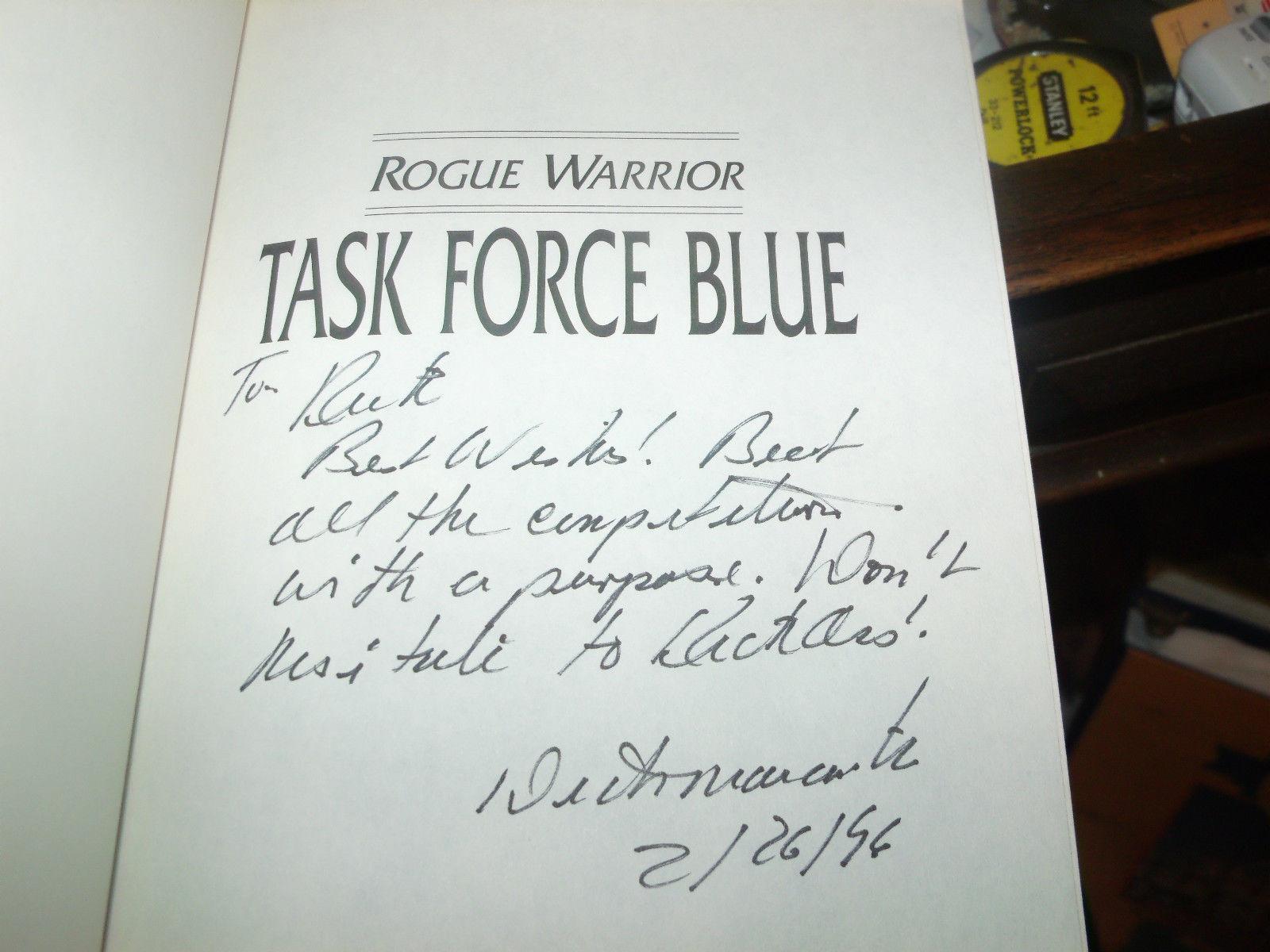 Task Force Blue SIGNED by Richard Marcinko 1ST/1ST (1996, Hardcover)