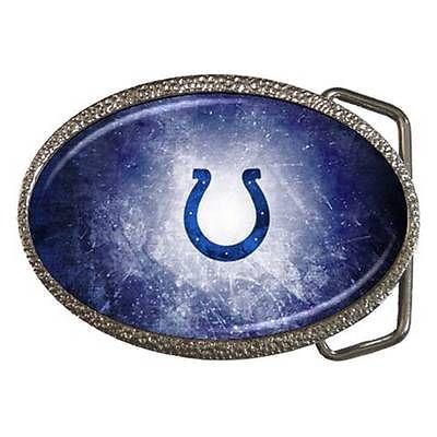 Indianapolis Colts Zinc Belt Buckle - NFL Football