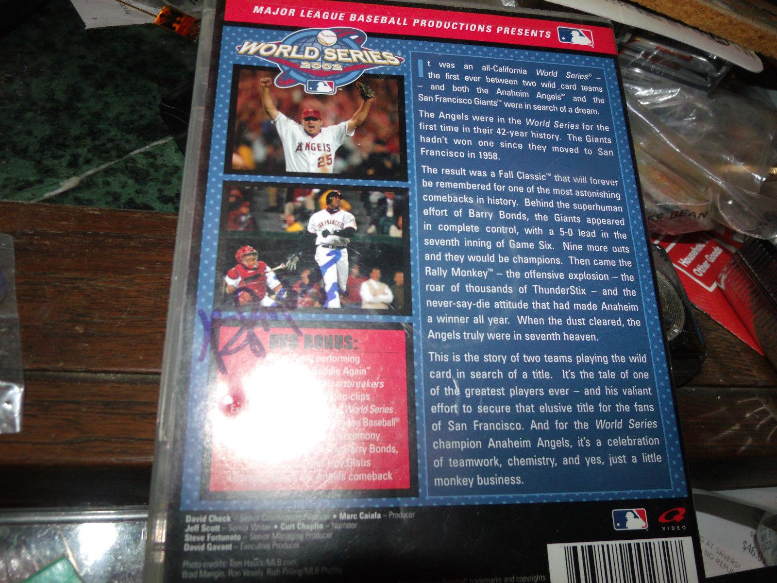 BENGIE MOLINA ALFREDO AMAZEGA SIGNED ANGELS WORLD SERIES DVD