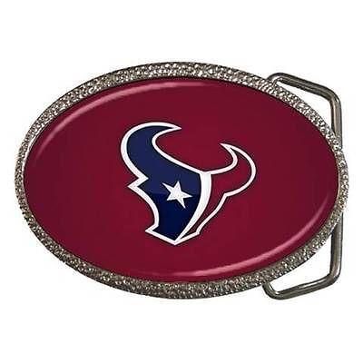 Houston Texans Zinc Belt Buckle - NFL Football