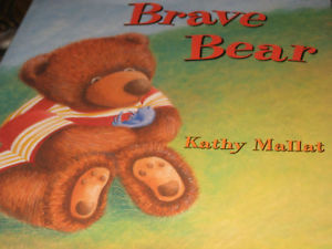 Brave Bear SIGNED by Kathy Mallat (1999, Hardcover)