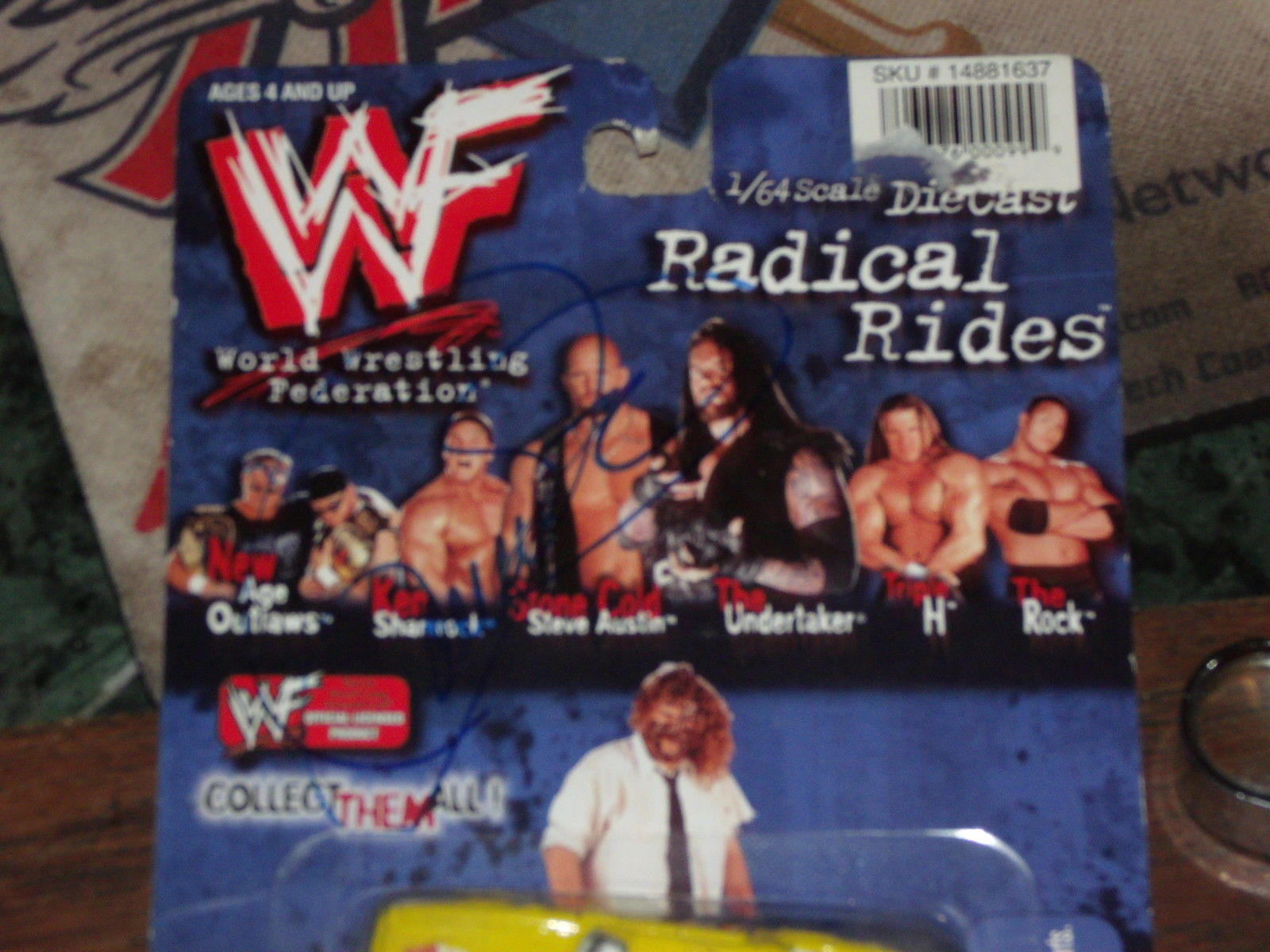 MANKIND / MICK FOLEY SIGNED RADICAL RIDES DIE CAST CAR NEW IN PACKAGE