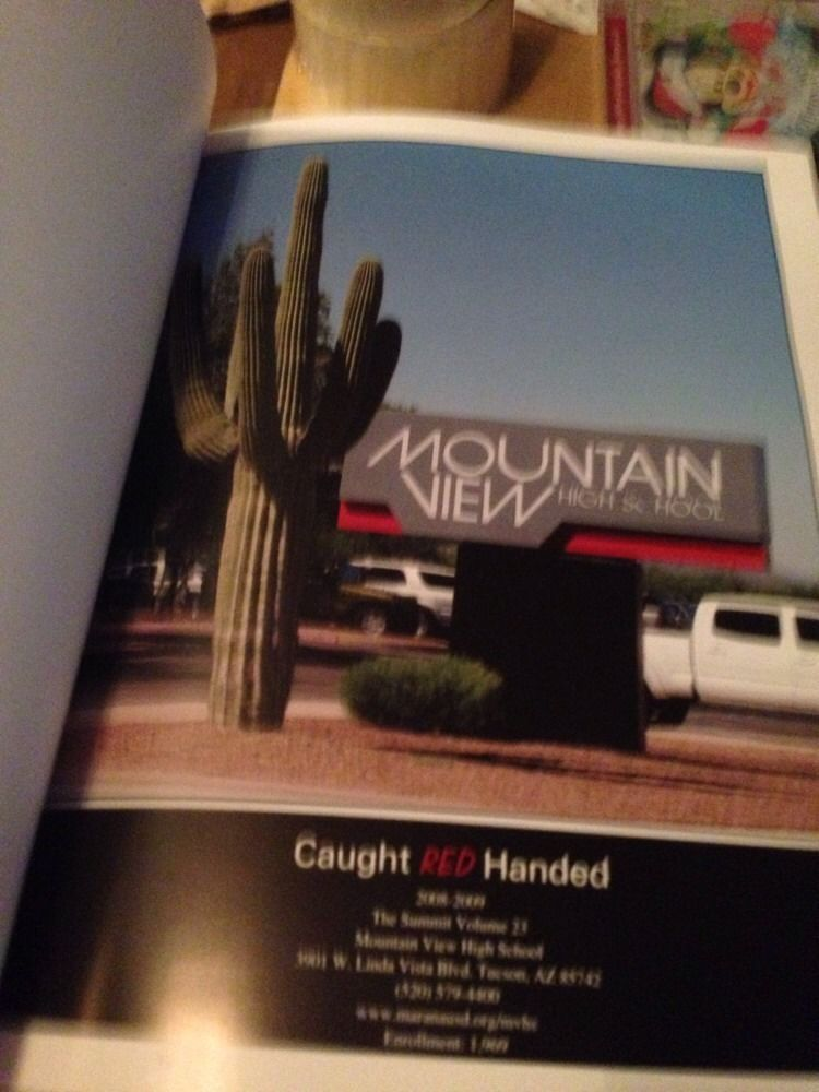 2009 CAUGHT RED HANDED MOUNTAIN VIEW HIGH SCHOOL YEARBOOK TUCSON