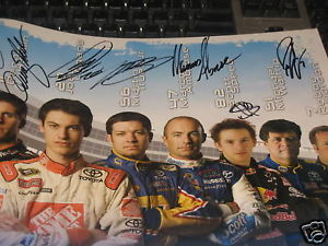TOYOTA 2010 NASCAR SPRINT CUP DRIVERS POSTER SIGNED 10X
