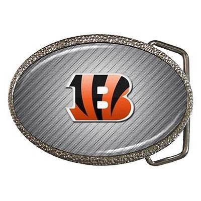 Cincinnati Bengals Chrome Finished Belt Buckle - NFL Football