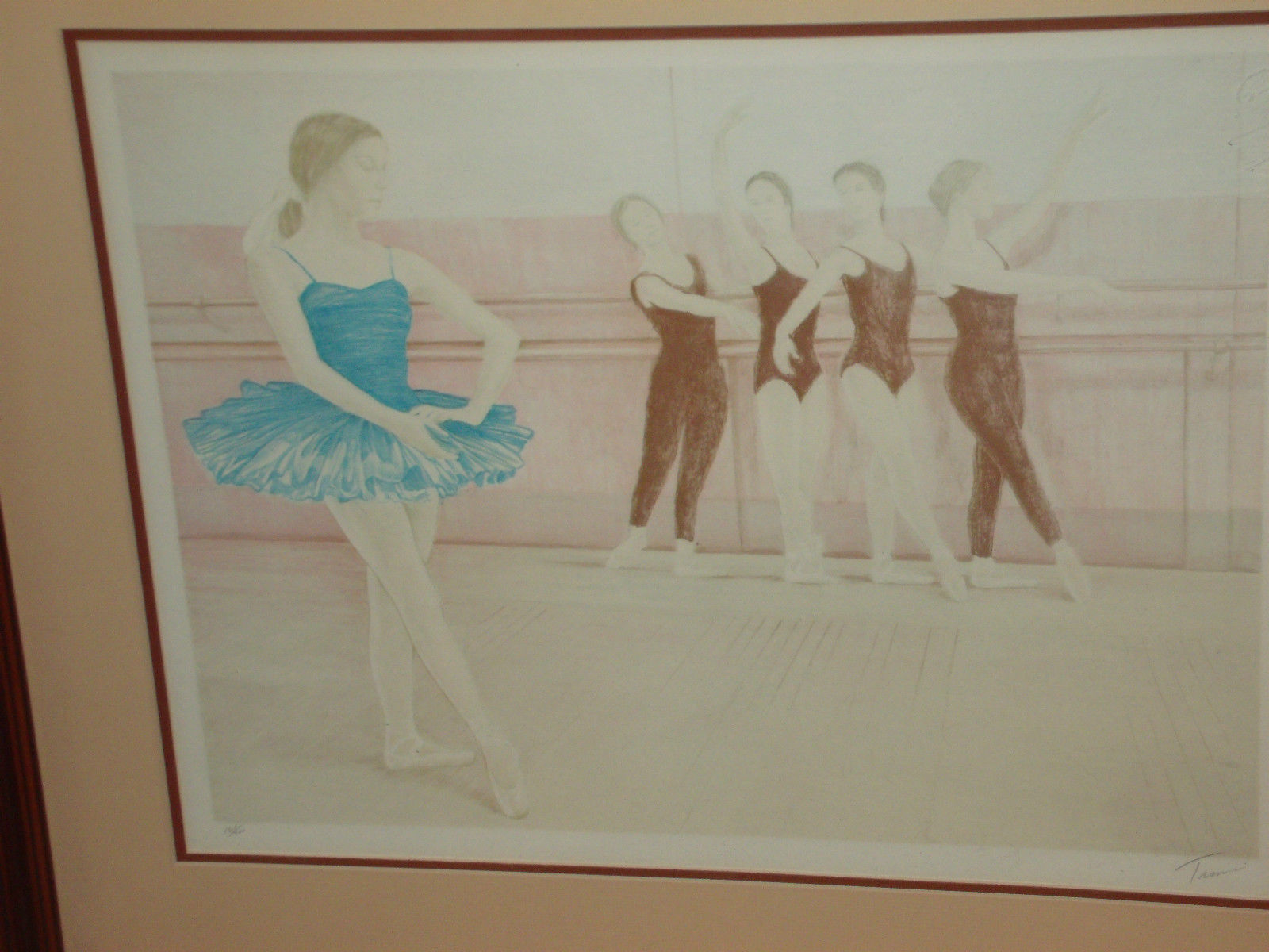 BARRE WORK BY DAVID TAMERIN SIGNED LIMITED EDITION FRAMED W/ COA