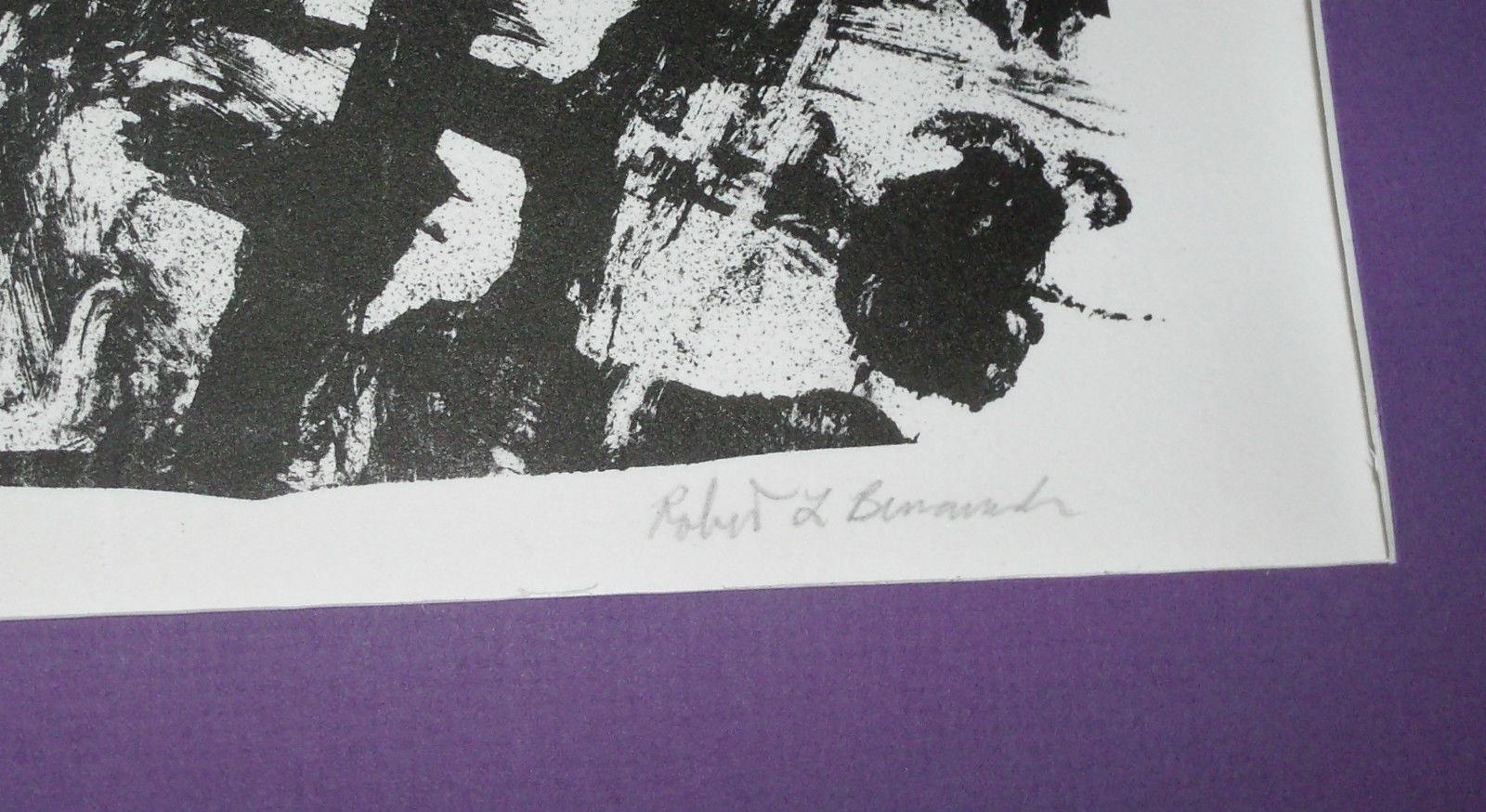 WOODBLOCK PRINT 15X22 LIMITED EDITION BY ROBERT L BENNARD
