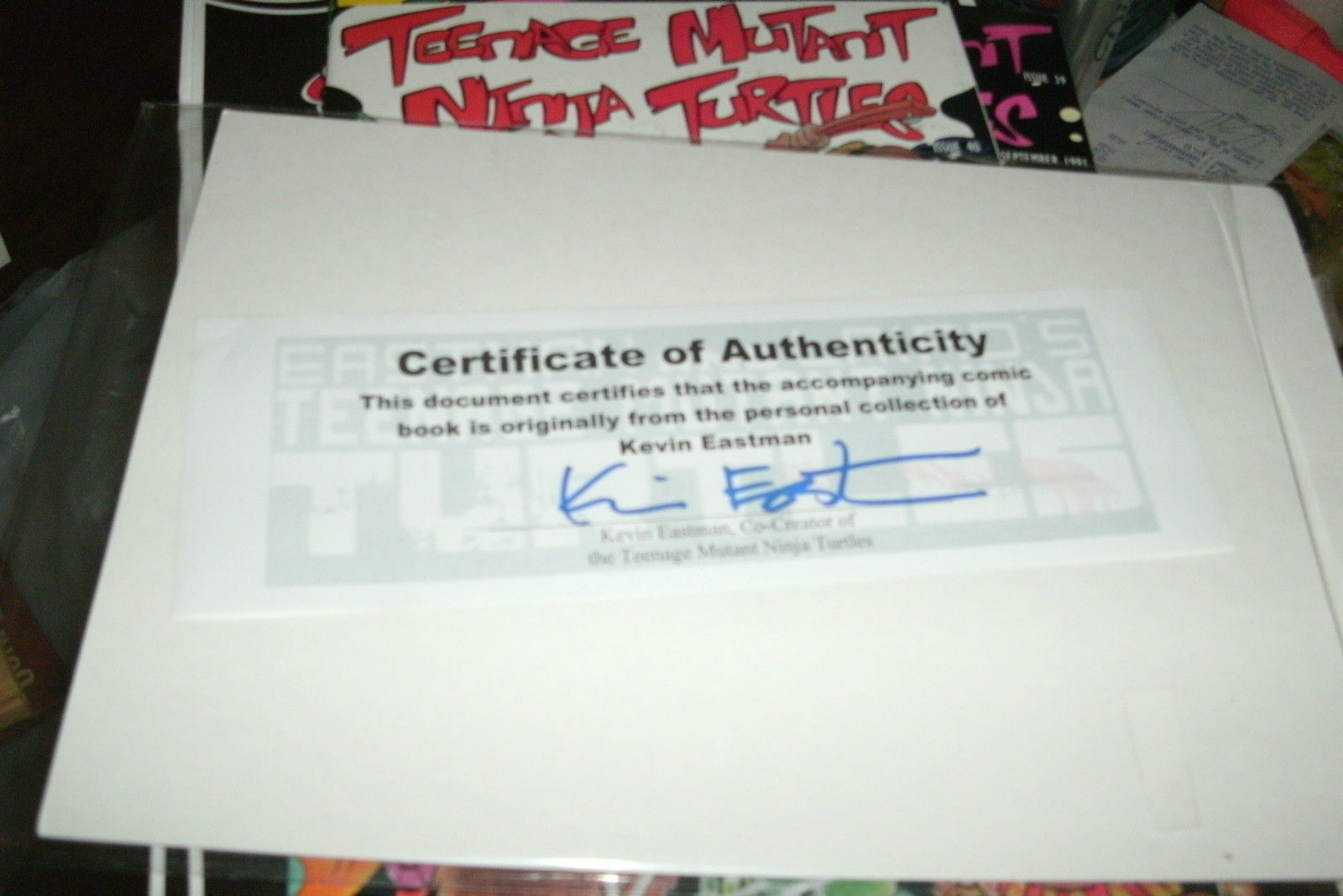 TMNT # 38, 39, 40 SIGNED W/ 1 SKETCH KEVIN EASTMAN CERTIFICATE INCLUDED