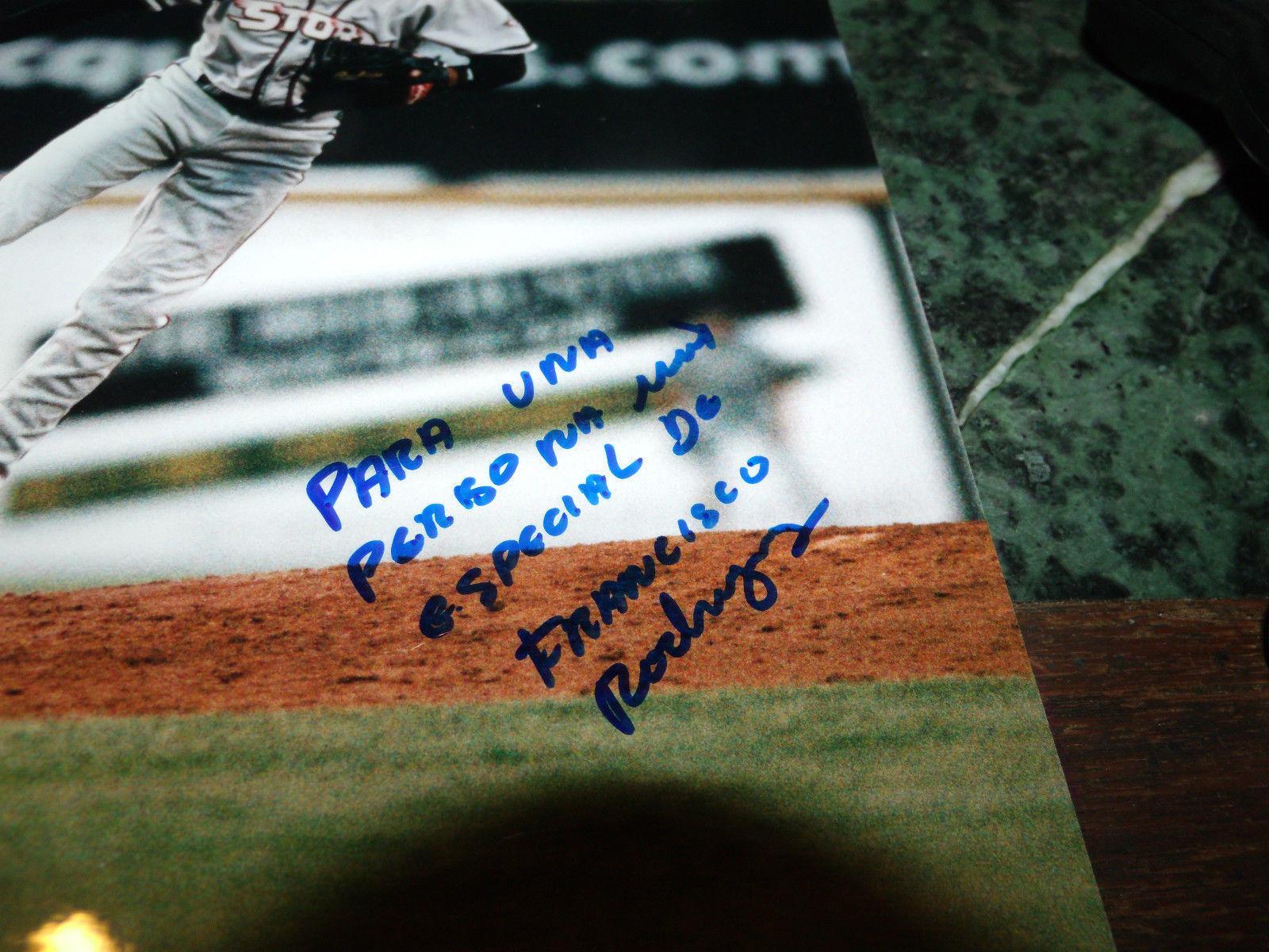 FRANCISCO RODRIGUEZ HAND SIGNED ELSINORE STORM 8X10 PHOTO ANGELS BASEBALL MILB