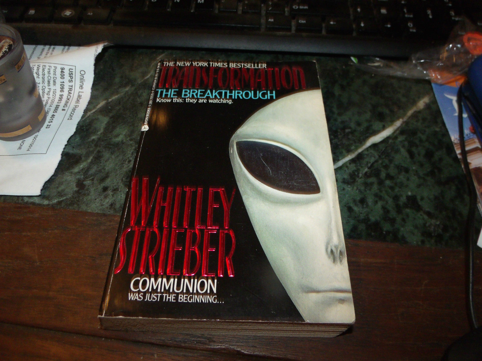 Transformation The Breakthrough SIGNED by Whitley Strieber 1ST/1S 1989 Paperback