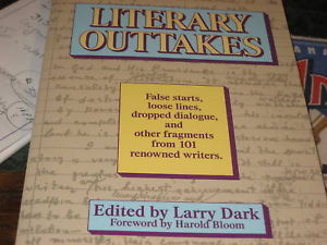 Literary Outtakes (1990 Paperback) SIGNED BY LARRY DARK