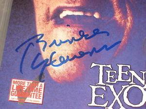 BRINKE STEVENS HAND SIGNED TEENAGE EXORCIST PHOTO
